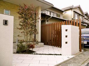 H様邸(門まわり) | 「らぼっと・わーくす」は京都,滋賀,大阪のエクステリア、ガーデニングを中心に外構・お庭工事のデザイン、設計、施工管理を一貫して行うエクステリア専門店です。