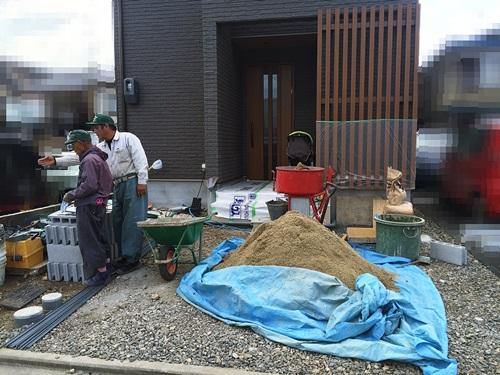 京都 LABOT - lab-t.com - 北区のご新築外構工事も進んでいますよ -