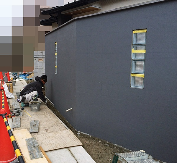 京都 LABOT - lab-t.com - 左京区の工事、壁が出来上がってきましたよ -