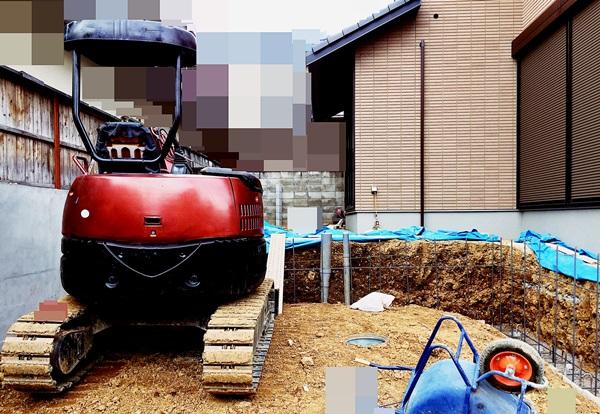 京都 LABOT - lab-t.com - 西京区、土留工事にとりかかっています -