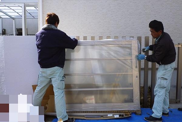 京都 LABOT - lab-t.com - 宇治市で外構工事中の職人さんたち -