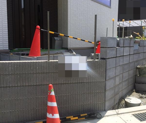 京都 LABOT - lab-t.com - 門柱の形が出来てきました -