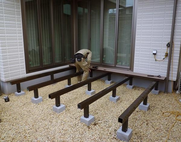 京都 LABOT - lab-t.com - 向日市:デッキ工事を終えて -