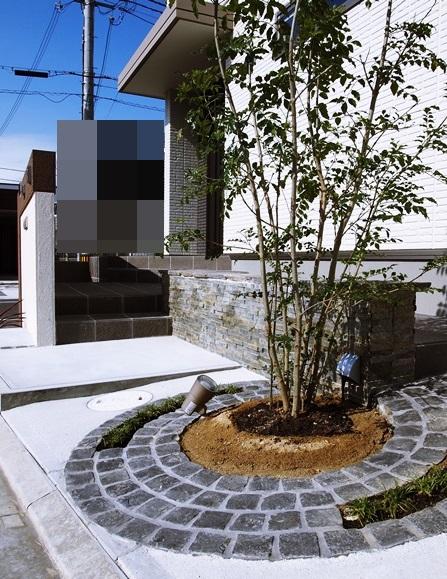 京都 LABOT - lab-t.com - 木津川市の新築外構【こだわりのアプローチ】完成 -
