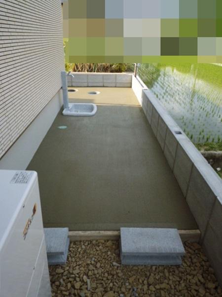 京都 LABOT - lab-t.com - 北区の新築外構工事【外周のブロック、積み終わりました】 -