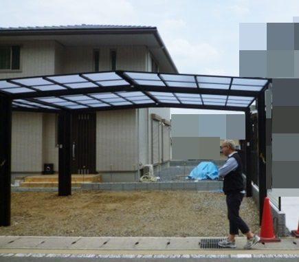LABOT::北区の新築外構工事はカーポートが施工されました