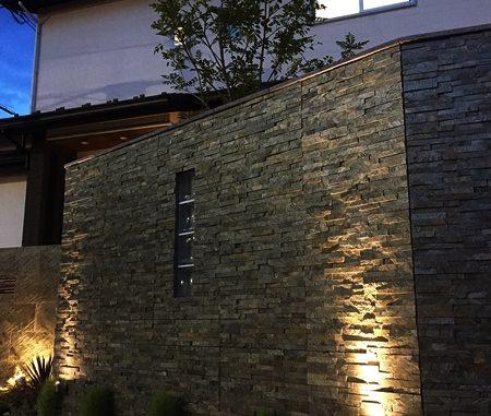LABOT::左京区:新築外構ライトアアップ写真