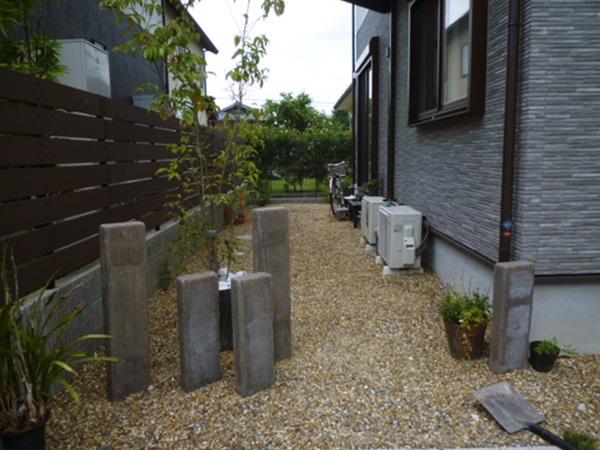 京都 LABOT - lab-t.com - 宇治市のOB様宅、今植栽工事中です -