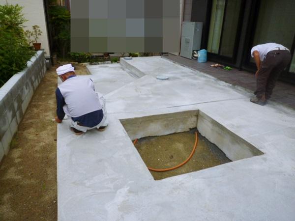 京都 LABOT - lab-t.com - 亀岡市のタイルテラス工事 -