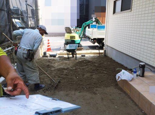 LABOT::右京区で新築外構工事着工!