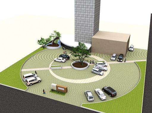 LABOT::本社ビルの外構計画に参加させていただいています