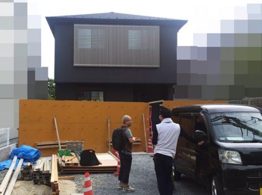LABOT::亀岡市の新築外構工事、型枠組立中