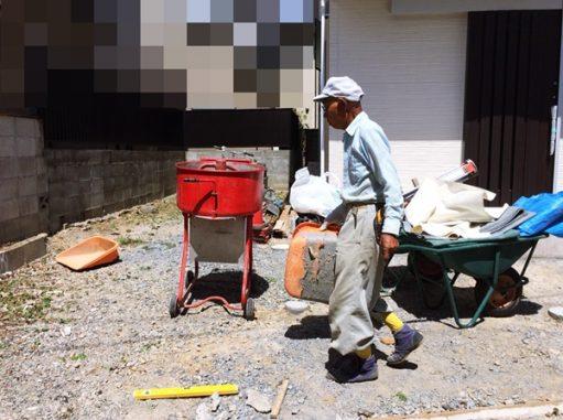 LABOT::右京区の新築外構工事、始まっていまーす!