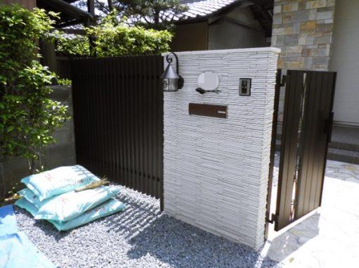 LABOT::積水ハウスで建築されたお客様の門柱工事