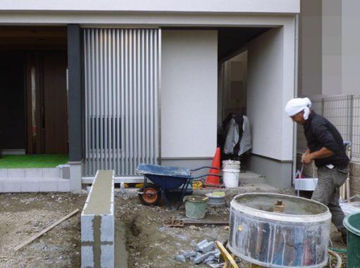 LABOT::左京区も新築外構工事、着工しています!