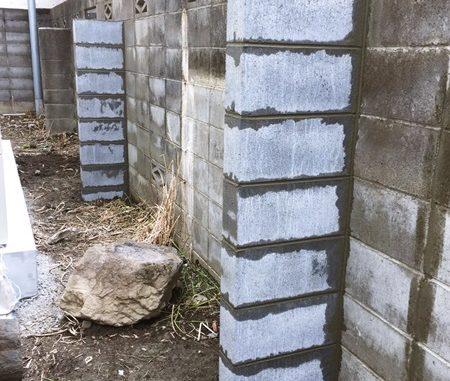 LABOT::建物の完了検査を受けるための外構先行工事~既存塀の控えブロック施工工事~