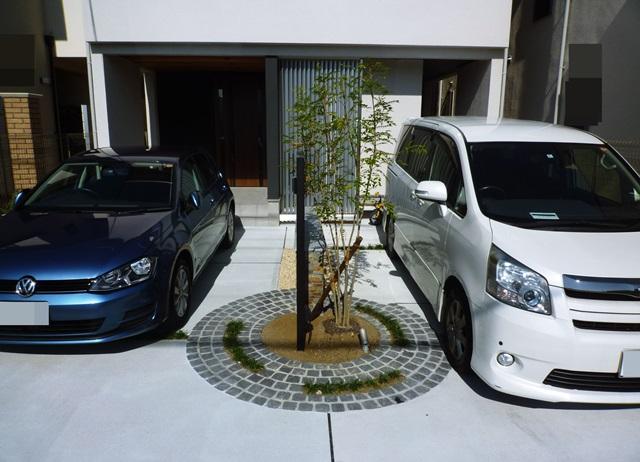 京都 LABOT - lab-t.com - ガレージを魅せる外構 -