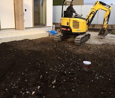 LABOT::右京区:集合住宅の新築外構工事が始まりました