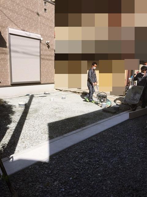 京都 LABOT - lab-t.com - 左京区の新築外構工事、本日より着工です -