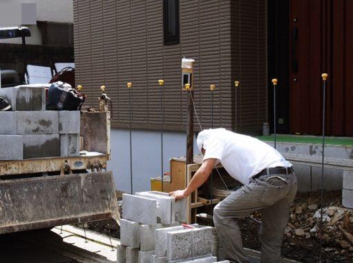 LABOT::右京区:新築外構工事が始まりました