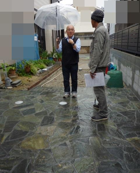 京都 LABOT - lab-t.com - 雨の日の現場検査 -