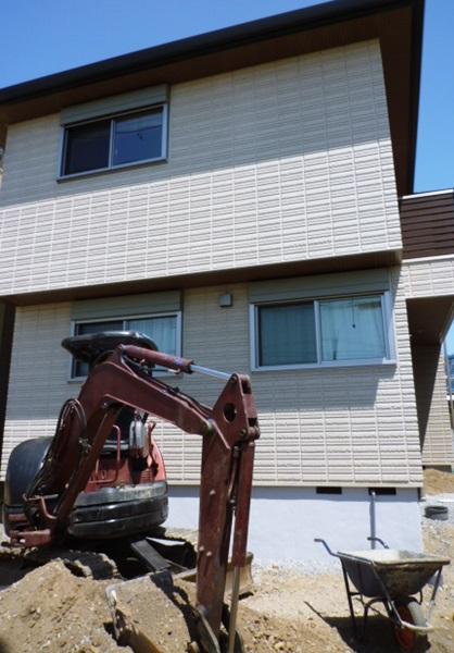 京都 LABOT - lab-t.com - 向日市の新築外構工事、始まりました! -