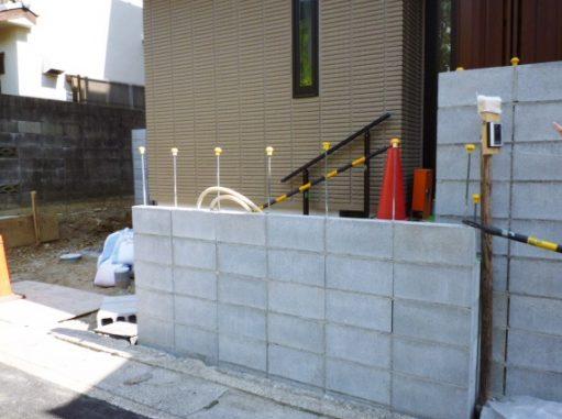 LABOT::門柱の下地工程@右京区