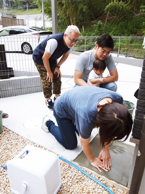 """京都 LABOT - lab-t.com - """" 家族みんなの手形を入れよう! """" -"""