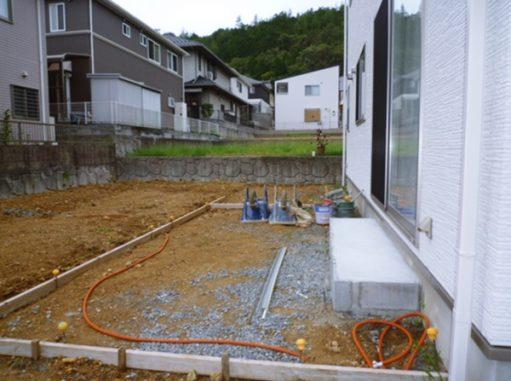 LABOT::園部町で外構と庭の工事中
