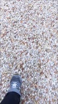 LABOT::防犯のこと:実際に砂利の上を歩いてみた音