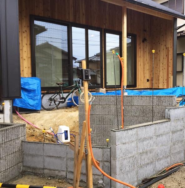 京都 LABOT - lab-t.com - 西京区の新築外構工事:途中経過 -