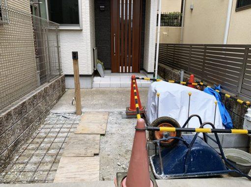 LABOT::左京区でリフォーム外構工事が始まりました