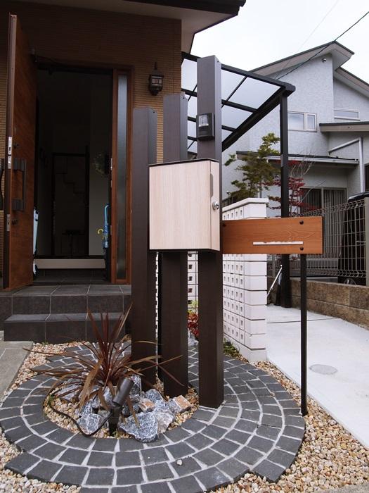 京都 LABOT - lab-t.com - 角柱を使った門まわりリフォーム -