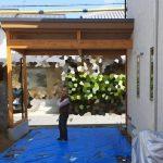 京都 LABOT - lab-t.com - 枝垂れ梅のある家:西京区で新築外構着工中 -