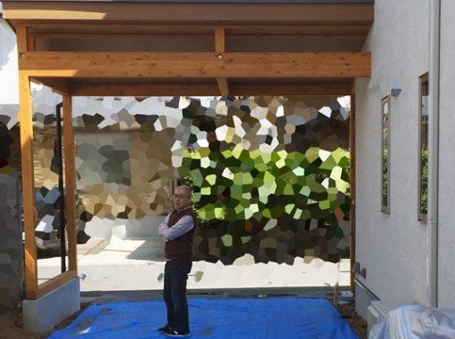 LABOT::枝垂れ梅のある家:西京区で新築外構着工中