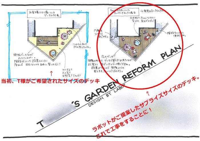 京都 LABOT - lab-t.com - 広くて大きなデッキが出来たよー[お庭のリフォーム工事] -