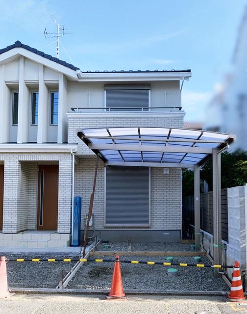 京都 LABOT - lab-t.com - 集合住宅の外構工事~カーポートを施工しました~ -