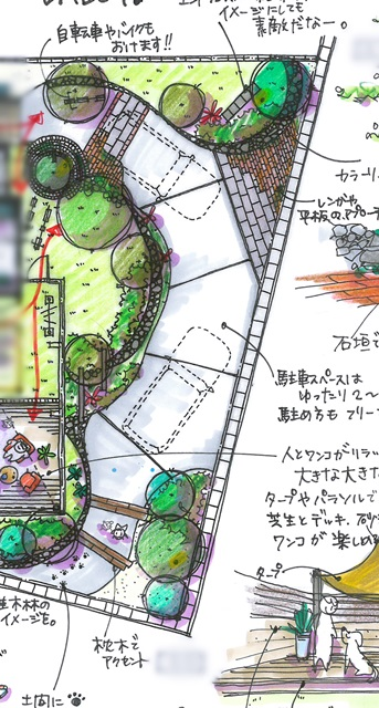 京都 LABOT - lab-t.com - ご契約にならなかった新築外構&ドッグガーデン -