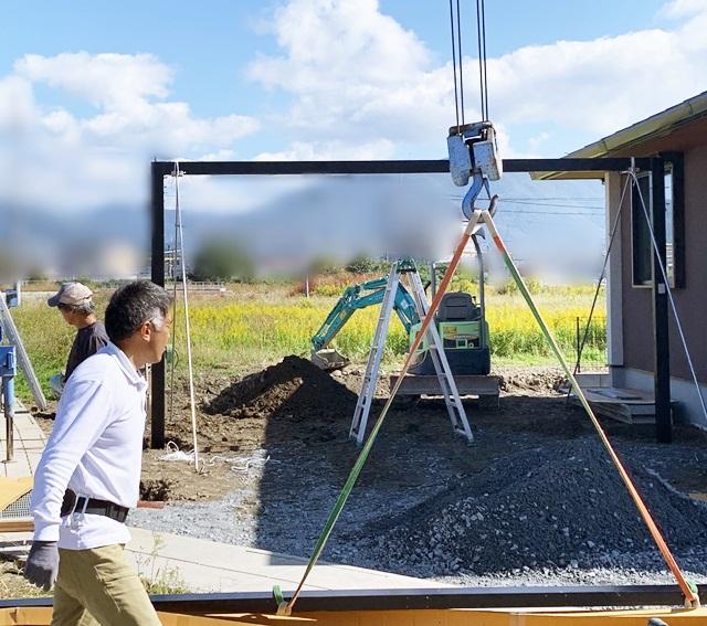 京都 LABOT - lab-t.com - カーポート工事と新米と。 -