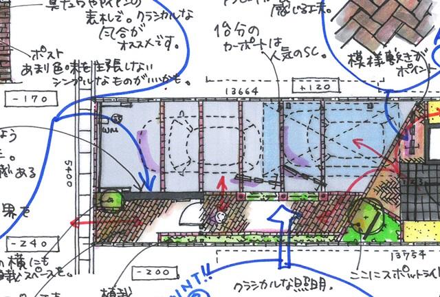 京都 LABOT - lab-t.com - 旗竿地の新築外構工事が着工 -