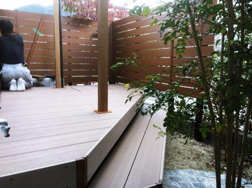 LABOT::お庭リフォーム工事中のT様邸
