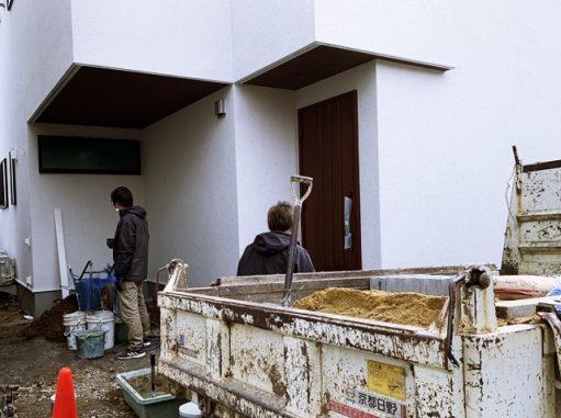 LABOT::長岡京市K様邸の新築外構工事が着工しました