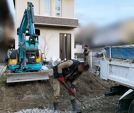 LABOT::伏見区F様邸、新築外構工事着工っ!