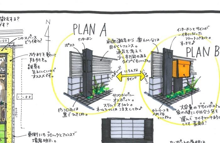 京都 LABOT - lab-t.com - 右京区H様邸に似合うシンプルなオープン外構デザインで -