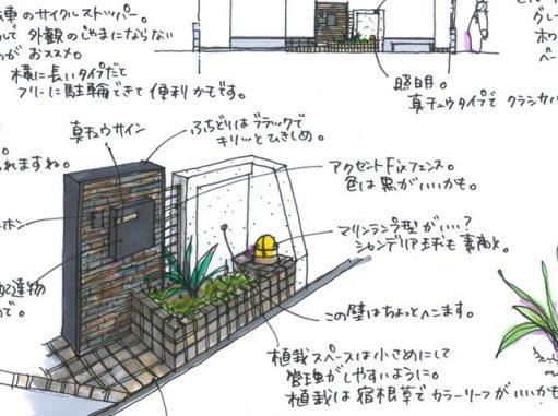 LABOT::門柱とサイクルストッパー@長岡京市K様邸