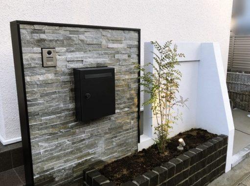 LABOT::長岡京市K様邸のデザイン門柱完成