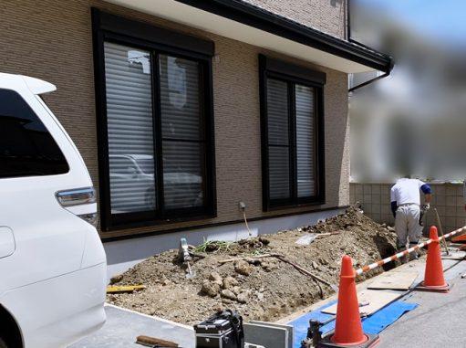 LABOT::北区のT様邸、新築外構工事が始まっています