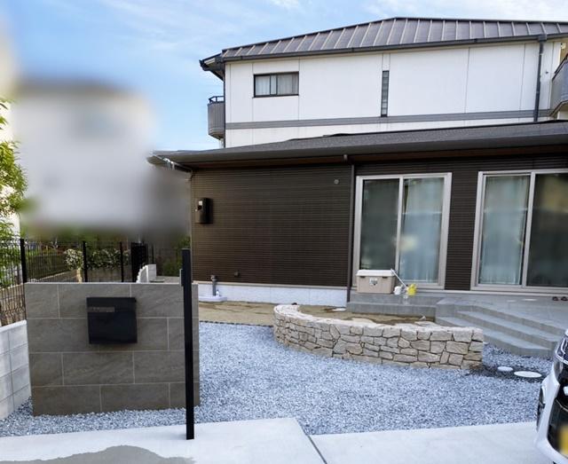 京都 LABOT - lab-t.com - 伏見区K様邸の門回りが完成しました -