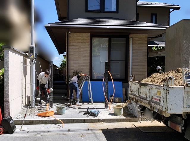 京都 LABOT - lab-t.com - 山科区M様邸の外構リフォーム工事が始まりました! -