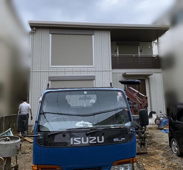 京都 LABOT - lab-t.com - セキスイハイムでご新築のI様邸、外構工事が着工しました -
